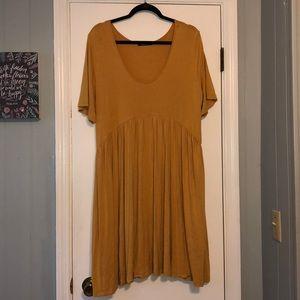 Annabelle Babydoll Dress Mustard w/ pockets!